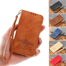 Magnetic Flip Leather Wallet Case Silicone Edge Full Cover For iPhone Samsung