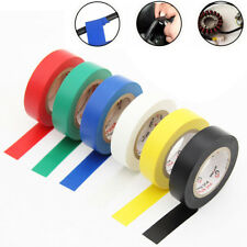 10Roll 15M 600V Waterproof Flame Retardant PVC Insulation Electrical Tape New