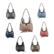 Ladies Handbag Metallic Hobo Bag Strap Bag Shopper Shoulder Bag Leather Pu