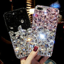 Luxury Bling 3D Crystal Diamond Rhinestone Jewelled Case Cover For iPhone X & S8