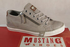 Mustang Lace Up Sneakers Low Shoes Beige, RV Rubber Sole 1146 NEW
