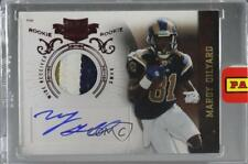 2010 Plates & Patches 224 Mardy Gilyard St. Louis Rams Auto Rookie Football Card