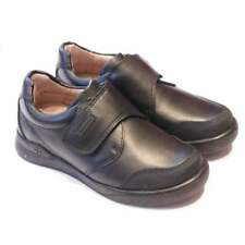 Boys Smart, Black School Shoes With Scuff Protection | Biomechanics 161129