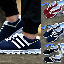 Fashion Mens Shoes Sports Athletic Running Sneakers Breathable Casual Flats