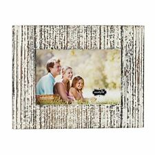 Mud Pie 4695408L Distressed White-Washed Wood Picture Frame