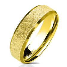 Finger Ring Stainless Steel Sand-blasted Gold Size 5/ 6/7/ 8/9/ 10/11/12/13
