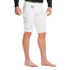 Under Armour Men's UA Break Through Slider, White/ Hyper Green/ Hyper Green