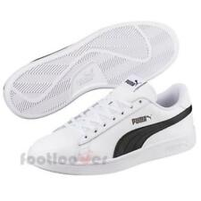 Puma Smash v2 L 365215 01 mens white black leather sneakers casual shoes
