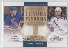2014-15 Upper Deck Artifacts TT-SZ Mats Zuccarello Derek Stepan New York Rangers