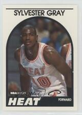 1989-90 NBA Hoops #204 Sylvester Gray Miami Heat RC Rookie Basketball Card
