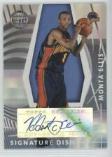 2005 Topps First Row Signature Dish SD-ME Monta Ellis Golden State Warriors Auto