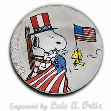 Betsy Snoopy Ross S1462 Ike Hobo Nickel Hand Engraved&Colored by Luis A Ortiz