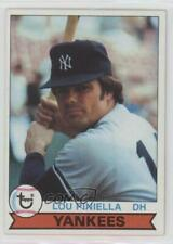 1979 Topps Burger King Restaurant New York Yankees 18 Lou Piniella Baseball Card
