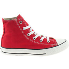BOYS GIRLS KIDS CONVERSE RED HI TOPS ALL STAR UNISEX CANVAS BOOTS 3J232