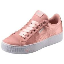 Puma Vikky Platform EP 365239 01 Womens Shoes Peach Beige Satin Sneakers Casual