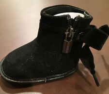 Michael Kors Baby Doe Black Boots Infant NIB