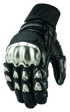 Icon Mens TiMax Short Leather Gloves with Titanium Knuckles