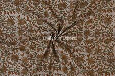 Hand Block Print Cotton Voile Sanganeri Indian Fabric by the Yard for Upholestry