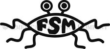 """7"""" FSM Flying Spaghetti Monster Cut Vinyl Decal in Your Choice of 13 Colors"""