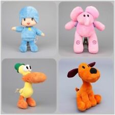 New 4pcs/Set PRECHOOL POCOYO & Friends Loula Elly Pato Stuffed Plush dolls