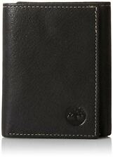 Timberland Mens Leather Trifold Wallet With ID Window, Black (Blix)