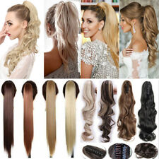 Ponytail Clip in Natural Hair Extensions Claw On Pony tail Real As Human Hair AR