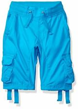 Southpole Little Boys Twill Cargo Shorts in Solid Colors, Ocean Blue (New)