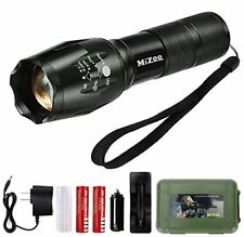 MIZOO LED Flashlight Mini Portable Torch Adjustable Focus Super Bright Sturdy