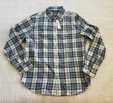 NEW MEN'S S M L XL J CREW MIDWEIGHT FLANNEL SHIRT IN TEAL PLAID
