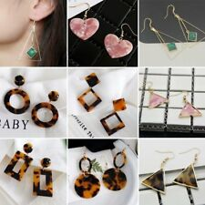 Women Fashion Geometric Circle Heart Drop/Dangle Hook Earrings Statement Jewelry