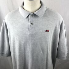 PERLIS Men's Polo Shirt Gray XXL Crawfish Logo Short Sleeve New Orleans
