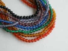 """Old Glass 6mm Round Beads You CHOOSE Color 16"""" Strand Rainbow Colors"""