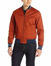 Fred Perry Men's Cotton Bomber Jacket, Russet/Dye