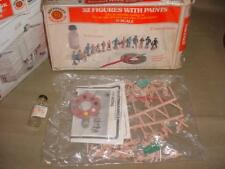 Vintage Plasticville O SCALE 32 FIGURES COMPLETE, PARTS SEALED WITH BOX