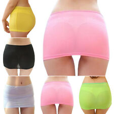Sexy Women Candy Color Stretch Tight Short Bodycon Pleated Short Mini Skirt UP