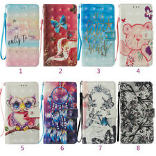For Xiaomi Redmi/Huawei Stand Wallet Protective Pattern Leather Phone Case Cover