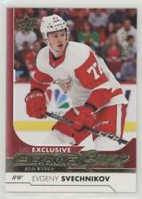 2017-18 Upper Deck Exclusives 224 Young Guns Evgeny Svechnikov Detroit Red Wings