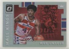 2017 Panini Donruss Optic Hall Kings Holo #13 Wes Unseld Washington Bullets Card