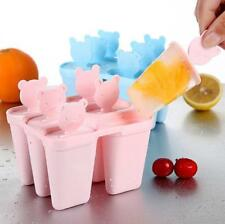6 Cell Reusable Popsicle Molds Ice Pop Moulds Ice Lolly Maker & Base Hot Sale