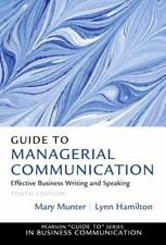 Guide to Managerial Communication (10th Edition) (Guide to Series in Business Co