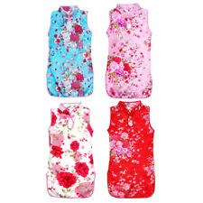 Fashion Child Girl Chinese Style Qipao Kids Baby Flower Cheongsam Dress Clothes