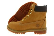 "Timberland 6"" Premium Waterproof Boots TB012909-713 Wheat Nubuck Leather Youth"
