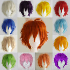 Vogue Multi-Color Short Straight Cosplay Full Wig Fashion Women Daily Party Xsd