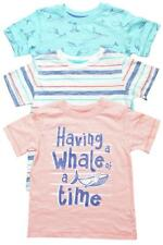 Boys T-Shirts PACK of 3 Baby Toddler Whale of a Time Print 6 Months to 4 Years