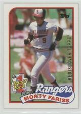 2017 Topps Rediscover Buybacks Gold #1989-177 Monty Fariss Texas Rangers Card