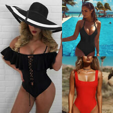 WOMENS One-Piece Swimsuit Beachwear Swimwear Push-up Monokini Bikini Bathing