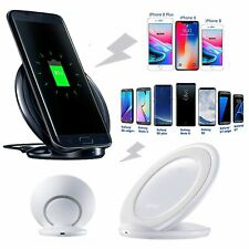 Qi Wireless Charger Pad Stand Dock For Samsung Galaxy Note 8 S8 S9+ iPhone 8 X