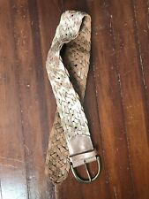 Anthropologie gold and rose gold braided leather belt size S