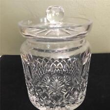 Beautiful WATERFORD Crystal COLLEEN Pattern Biscuit Barrel With Lid