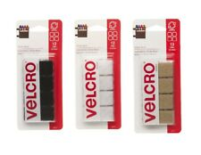 "Velcro Sticky Back 12 Pack 7/8"" Square Fasteners Hook & Loop SELECT YOUR COLOR!"